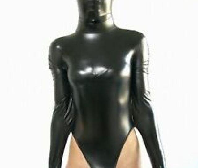 Image Is Loading Half Body Metallic Black Lycra Spandex Halloween Party