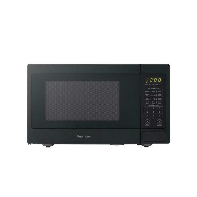 kenmore 70919 0 9 cu ft 900w countertop microwave oven black