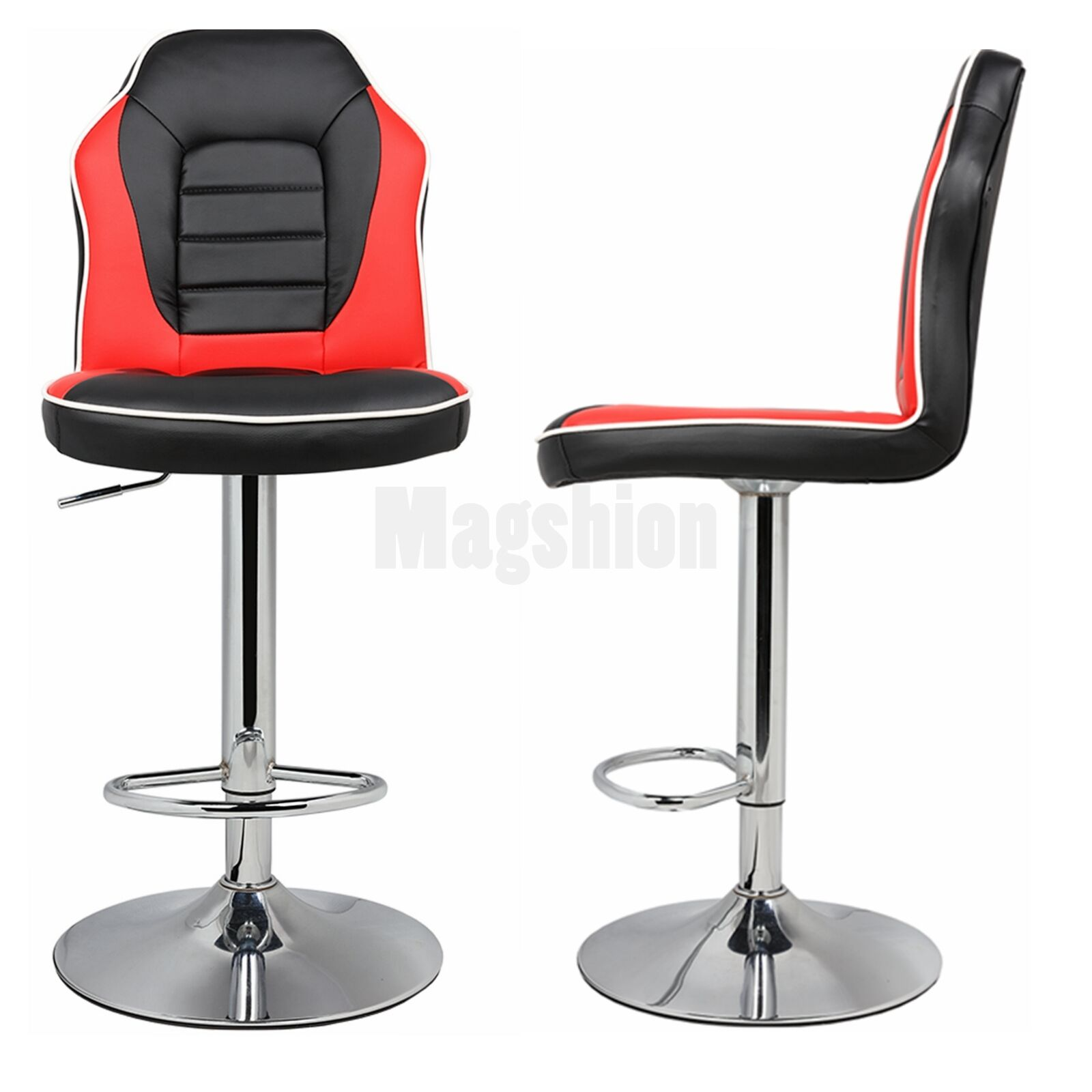 Modern Racing Seat Bar Stools Chair Adjustable Swivel