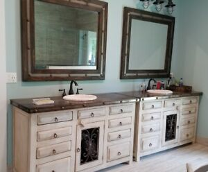 details about rustic saint andrew bathroom vanity white washed reclaimed wood