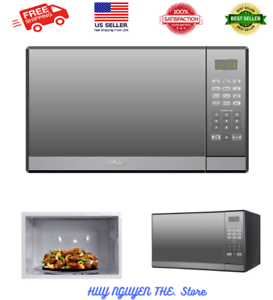 details about oster 1 3 cu ft stainless steel with mirror finish microwave oven w grill new