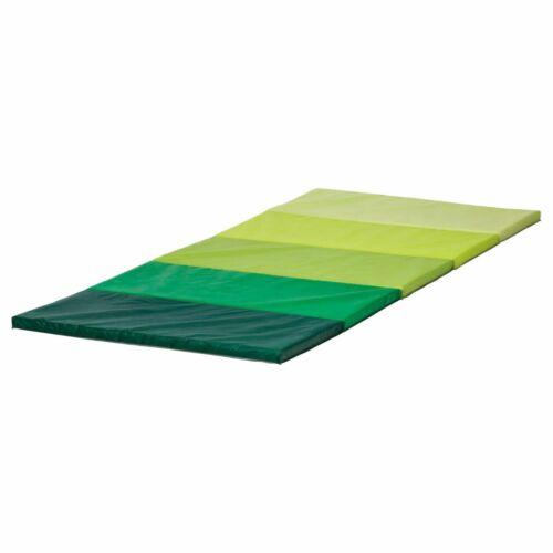 sports vacances ikea nouveau pliant gym tapis plufsig vert ou rose 2 couleurs de choix 75x185 malecon