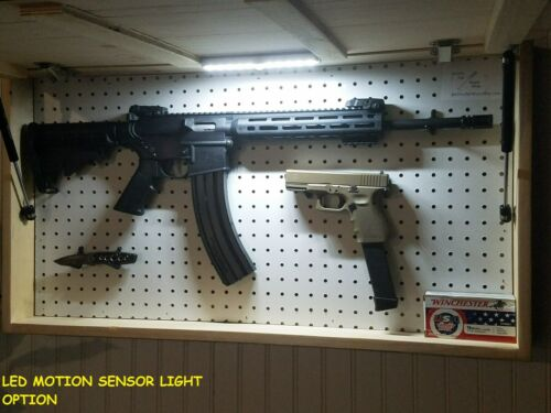 sporting goods cabinets safes american usa flag unstained concealment cabinet hidden secret gun rack storage
