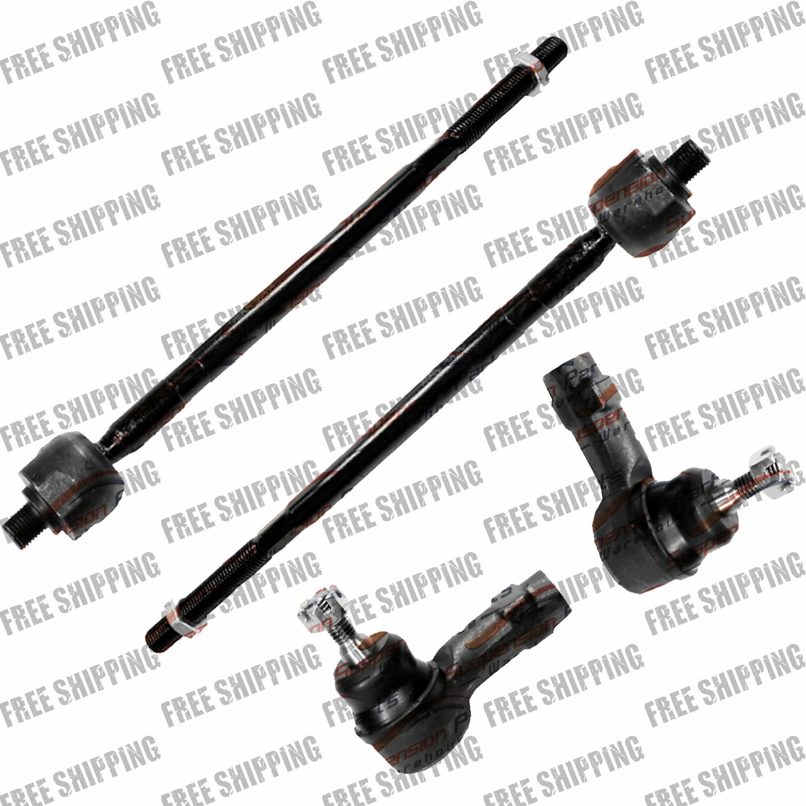 Brand New 4pc Front Inner And Outer Tie Rod Kit For Ford