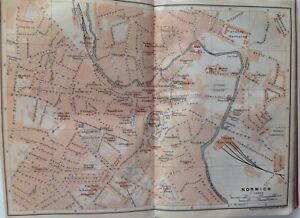 Newcastle On Tyne  Great Britain  1910  Antique Vintage Street Map     Image is loading Newcastle On Tyne Great Britain 1910 Antique Vintage