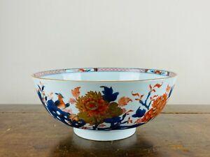 Antique Chinese Porcelain Bowl Imari Blue & White 18th Century Export Qianlong