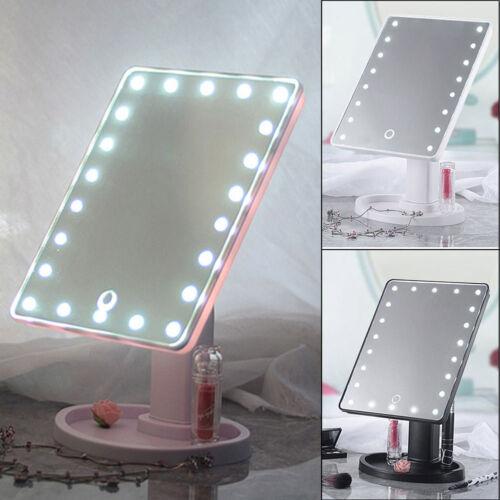 Schminkspiegel mit Beleuchtung Beleuchteter Kosmetikspiegel LED Make up Spiegel