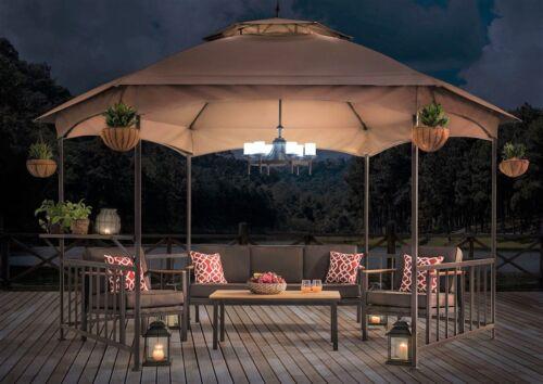 home garden outdoor gazebo chandelier patio area hanging light fixture battery operated lamp