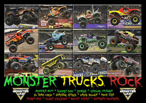 details about best selling monster trucks poster monster jam 2019 a3 297mm x 420mm