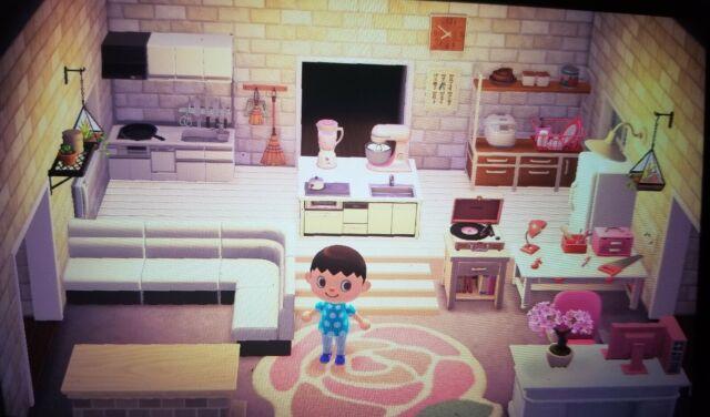 Animal Crossing New Horizons Kitchen/ living room | eBay on Animal Crossing Living Room Ideas New Horizons  id=89865