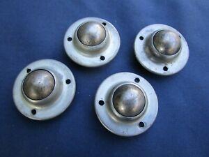 details sur 4 roulettes billes metal pieds meuble diametre 4 cm occasion