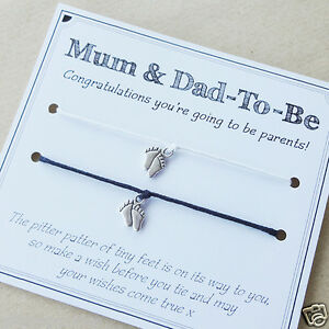 Mum To Be Amp Dad To Be Pregnancy Baby Charm Bracelets