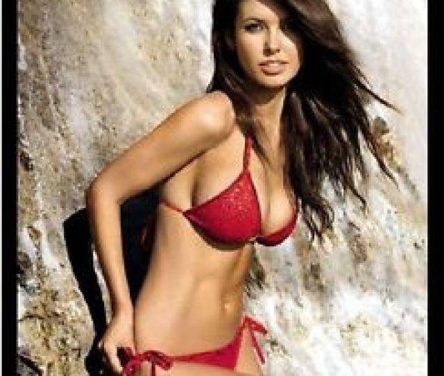 Image Is Loading Sexy Brunette Model In Red String Bikini Refrigerator