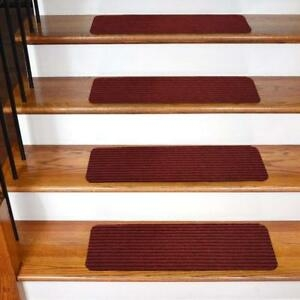 Stair Treads Non Slip Carpet Indoor Rubber Backing 30 X 8 Inch 1 | 8 Inch Carpet Stair Treads | Wooden Stairs | Bullnose Carpet | Skid Resistant | Non Skid | Non Slip Stair