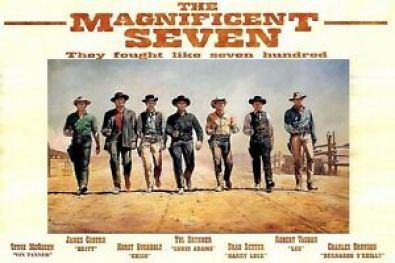 Image result for the magnificent seven 1960 poster