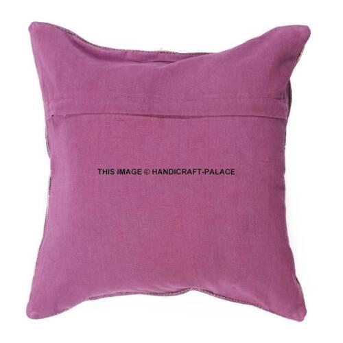 home garden indian kilim cushion cover 16x16 pillows boho ethnic jute rug throw pillow case laborsrb com