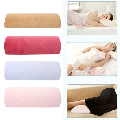 home furniture diy half bolster memory foam lumbar support pillow bed waist sleeping cushion bedding