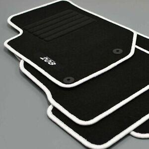 details sur 4 tapis sol peugeot 208 2 a partir 10 2019 moquette logo blanc c gris