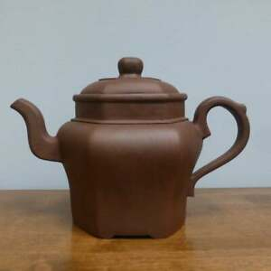 18th or 19th Chinese Yixing Hexagonal Teapot with mark