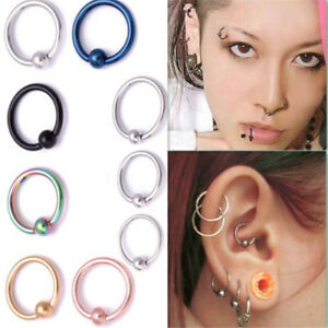 Image Is Loading Surgical Steel Ball Closure Lip Ring Ear Nose