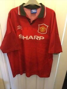 Manchester united cantona nameset shirt soccer number letter heat. RARE MANCHESTER UNITED SHIRT NUMBER 7 CANTONA SIZE XXL | eBay