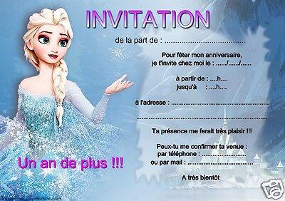 5 ou 12 cartes invitation anniversaire reine des neiges ref 12 ebay