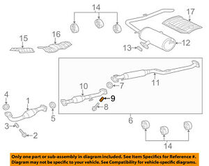details about toyota oem sienna exhaust system catalytic converter pipe spring 90501a0007