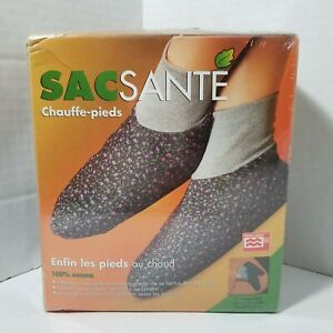 details about healthpac sacsante hot booties natural microwavable foot warmers slippers new