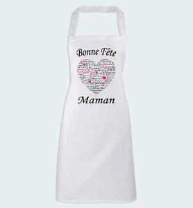 details sur tablier de cuisine bonne fete maman cadeau amour pour une mere super cuisiniere