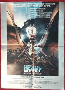 details about rare official promotional heavy metal movie poster folded poster 18 x 24 5