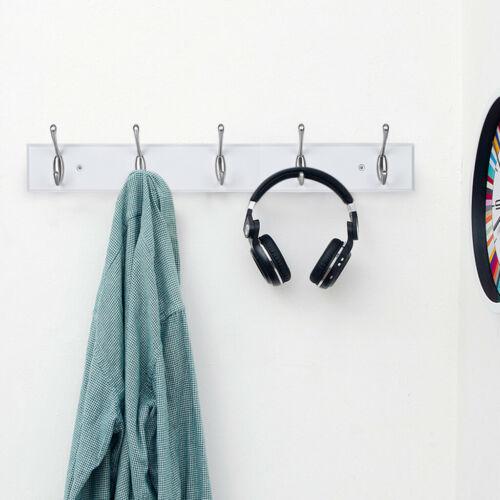 home organization modern space saving sleek 5 hook wall mounted floating coat rack coat hat racks