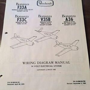 Beechcraft Bonanza F33A, F33C, V35B & A36 Wiring Manual   eBay