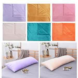 details about super soft velvet body pillow cover case with zipper long pillowcase 50x152cm