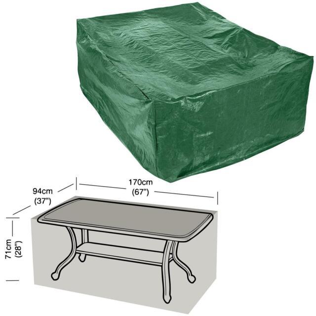 parkland rectangular garden table cover green 30174p