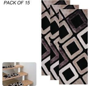 15Pcs Stair Treads Carpet Rug Skid Resistant Non Slip Indoor Stair | Stair Tread Carpet Tiles | Treads Lowes | Slip Resistant | Non Slip | Tread Covers | Walmart