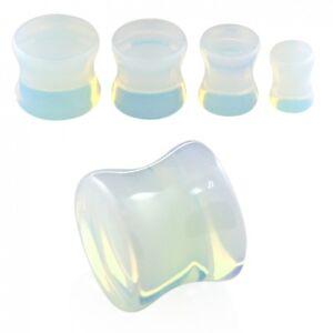 4 mm - 20 mm Ø Plug, Piercing, Double Flared - Stein Stone Mondstein mehrfarbig