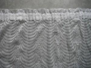 details sur rideau voilage dentelle blanc a ruflette 2 50 x 1 60 cm