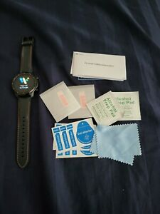 Flawless Mobvoi TicWatch Pro 3 GPS47mm Stainless Steel Case Silicone Strap Watch