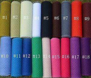 birdcage veil netting fabric bridal wedding fascinator millinery 18 color b003 ebay