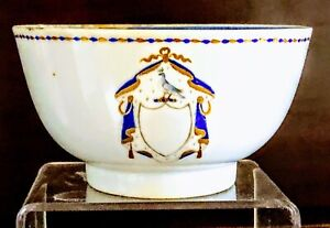 19th Century (Jiaqing Era) Chinese Export American Market Breakfast Bowl