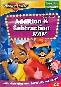 Rock N Learn Addition & Subtraction Rap SEALED NEW DVD ...