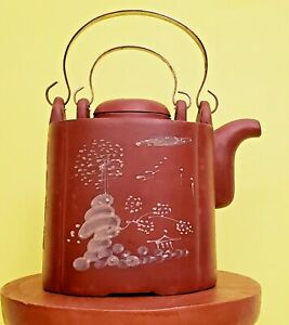 Vintage Chinese Yixing Zisha Clay Handmade Exquisite Teapot Collectible