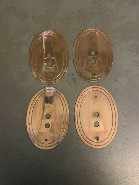 Set Of 4 Antique Brass Wall Sconce Back Plate Light Lamp ... on Wall Sconce Parts id=91576