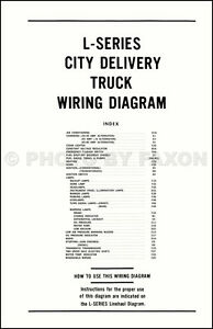 1970 Ford LTruck Wiring Diagram L800 L900 L8000 L9000