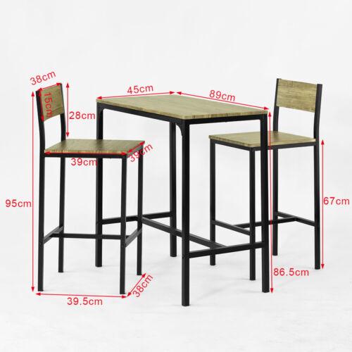 mobel wohnen tisch stuhl sets ogt03 fr sobuy ensemble table de bar 2 chaises table haute cuisine lot de 1 2