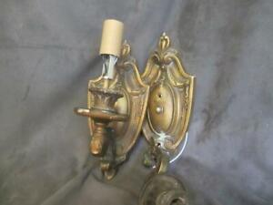 Vintage Pair - Polychrome Electric Wall Sconce - Parts or ... on Wall Sconce Parts id=73199