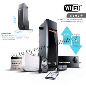 Liftmaster 8500W Wi-Fi DC Elite Series Battery BackUp Wall ... on Liftmaster Wall Mount  id=66595