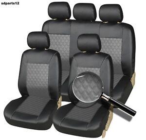details sur housse siege auto 4x4 et suv haute qualite simili cuir noir tres resistant
