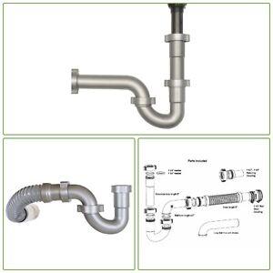 details about bathroom sink drain kit universal 1 5 tailpiece plumbing part pvc flexible hose