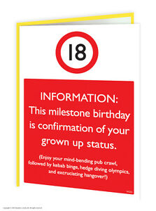 details about brainbox candy 18th birthday greeting age card funny novelty cheeky joke humour